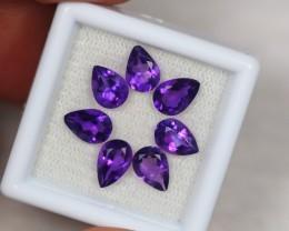 4.34ct Purple Amethyst Pear Cut Lot GW2224