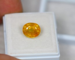 4.63ct Yellow Sapphire Oval Cut Lot GW2229