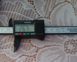 ELECTRONIC DIGITAL MM GAUGE W/ LCD SCREEN / MEASURE MM / INCHES