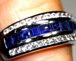 24.30-CTS  SAPPHIRE RING BLUE  AND WHITE   SG-2684