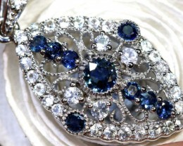 18.55-CTS  SAPPHIRE  PENDANT BLUE AND WHITE    SG-2690