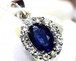 6.70-CTS SAPPHIRE PENDANT BLUE AND  WHITE    SG-2691