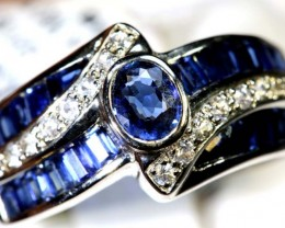 18.50-CTS SAPPHIRE RING BLUE AND WHITE   SG-2692