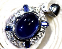 6.75-CTS SAPPHIRE PENDANT BLUE AND WHITE   SG-2692