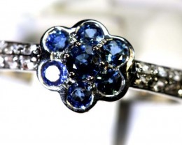 12.10-CTS SAPPHIRE RING BLUE AND WHITE   SG-2694