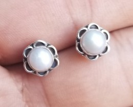PEARL STUD EARRINGS 925 STERLING SILVER NATURAL FRESH WATER PEARLS VA142