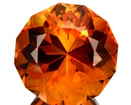 ~JEWELRY GRADE~ 6.73 Cts Natural AAA Golden Orange Citrine Fancy Round Braz