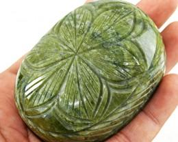 Genuine 1425.00 Cts Green Garnet Carved Cabochon