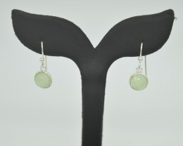 NATURAL UNTREATED CHALCENDONY EARRINGS 925 STERLING SILVER JE905