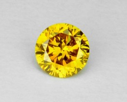 0.105 Cts Natural Golden Yellow Diamond Round Africa