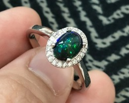 14ct Welo Opal 925 Sterling Silver Ring US 6