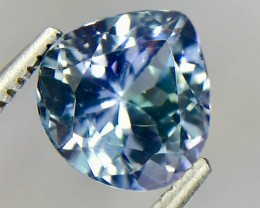 2.08 Crt Natural Tanzanite Top luster Faceted Gemstone( Tz 04)