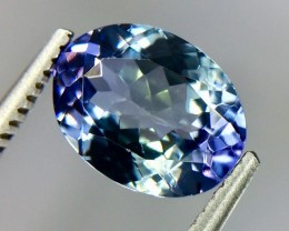 2.08 Crt Natural Tanzanite Top luster Faceted Gemstone( Tz 05)