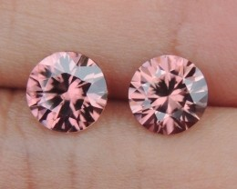 2.72cts Pink Zircon,  Top Cut,  Clean,  Unheated