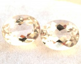 4.88 Carat Matched Pair of Nice Morganites
