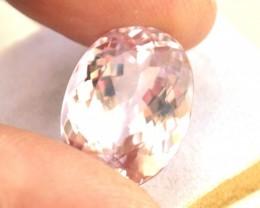 18.79 Carat Very Fine Large Oval Cut Pink Kunzite