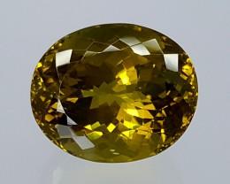 19Crt Natural Olive Quartz  Best Grade Gemstones JI26