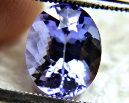 CERTIFIED - 3.58 Carat African VVS Purple Blue Tanzanite - Gorgeous