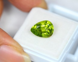 4.95ct Green Peridot Pear Cut Lot V2204