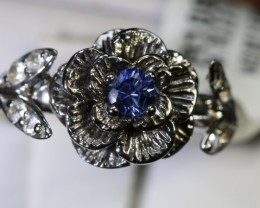 12.80-CTS SAPPHIRE RING BLUE AND WHITE   SG-2699