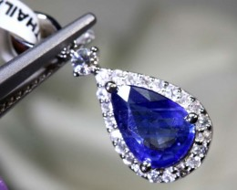 4.7 CTS - SAPPHIRE PENDANT BLUE AND WHITE  SG-2704