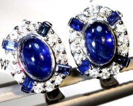 11.40 CTS - SAPPHIRE EARRING BLUE AND WHITE  SG-2705