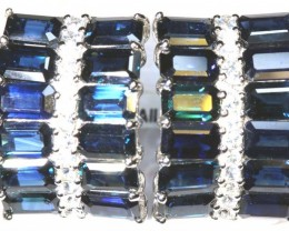41.05 CTS - SAPPHIRE EARRING BLUE AND WHITE  SG-2706-simplygems