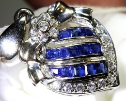 10.45 CTS - SAPPHIRE PENDANT BLUE AND WHITE SG-2708