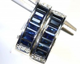 37.70 CTS - SAPPHIRE EARRING BLUE AND WHITE  SG-2709