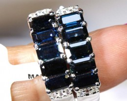 27.40 CTS - SAPPHIRE EARRING BLUE AND WHITE  SG-2710