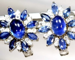 19.70 CTS- SAPPHIRE EARRING BLUE AND WHITE  SG-2720