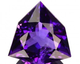 ~JEWELRY GRADE~ 3.61 Cts Natural AAA Purple Amethyst Fancy Cut Bolivia