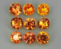 2.28 Cts Natural Intense Beautiful Orange-Yellow Sapphire Round Madagascar