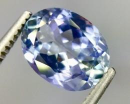 1.93 Crt Natural Tanzanite Top luster Faceted Gemstone(Tz 11)
