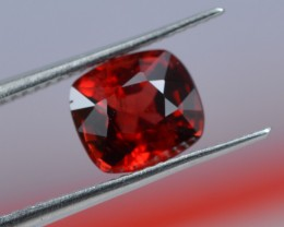 UNTREATED 1.26 CTS STUNNING VIVID RED SPINEL FROM BURMA MYANMAR