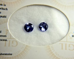 1.92 Tcw. Matched African Tanzanites - Gorgeous
