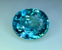 4.95 Cts Blue Zircon Awesome Color ~ Cambodia Pv.13