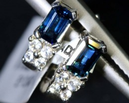 8.35 CTS- SAPPHIRE EARRING BLUE AND WHITE  SG-2722