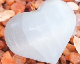 Parcel  12 Heart Shape Selenite Pendants WS329