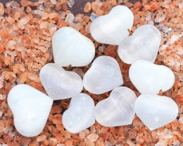 Parcel  10 Heart Shaped Shapes Selenite Pendants WS341