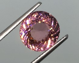 3.81Carat VVS Tourmaline Certified Pink Unheated Perfection!