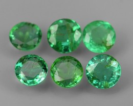 1.05 CTS NATURAL EMERALD ~ ROUND  ~ NICE QUALITY GOOD COLOR LUSTER