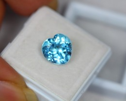 4.62Ct Blue Topaz Heart Cut Lot LZB200