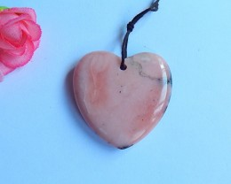 15.8ct Natural pink opal heart shape cabochon (18091126)