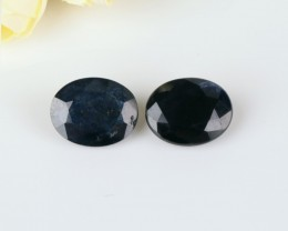 5ct Natural Blue sapphire cabochon Pair beads (18091235)
