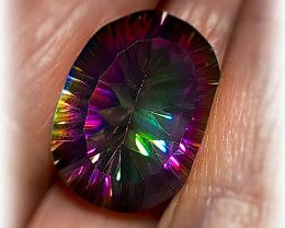 16.86ct Rainbow Concave Mystic Quartz - No Reserve!