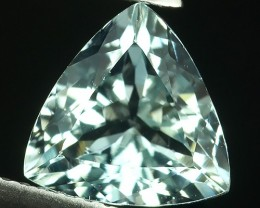 2.15 Cts - Sparkling Luster - Trillion Gem - Natural Fine Green Aquamarine
