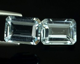 3.60 CTS-EXQUISITE NATURAL UNHEATED LIGHT~ BLUE OCTAGON~CUT AQUAMARINE