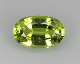 ~100% Natural Lemon Yellow Chrysoberyl Excellent Oval Cut~