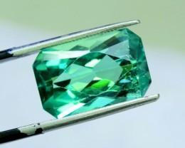 NR ~  10.80 cts French Cut Lush Green Spodumene Gemstone From Afghanistan